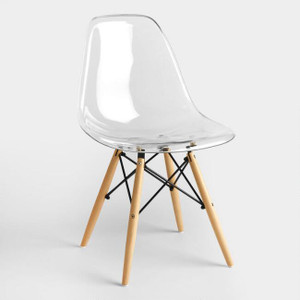 eames Eiffel chair replica kids size fun cheap play chair in clear plastic lucite acrylic