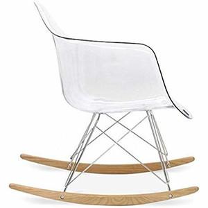 clear nursery rocking chair mid century modern lucite acrylic