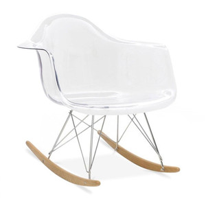clear acrylic nursery rocking chair eames replica molded transparent seat