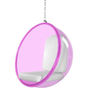 clear acrylic pink hanging bubble chair free shipping fine mod finemod