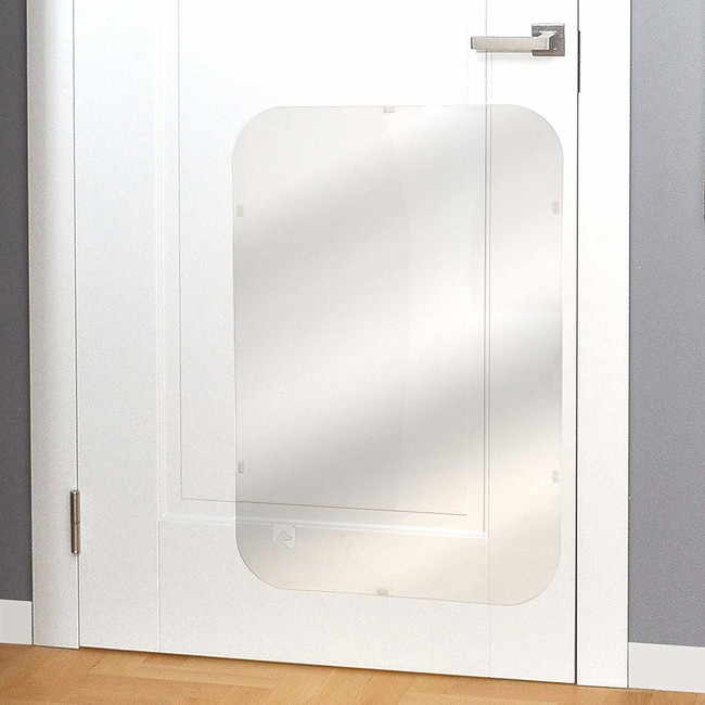 clear dog scratch protector door panel easy to attach install vinyl transparent clear plastic wall protection