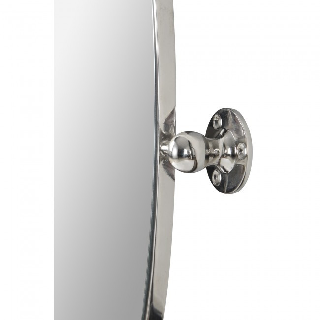 renwil azalea oval nickel pivot swivel bathroom vanity mirror modern