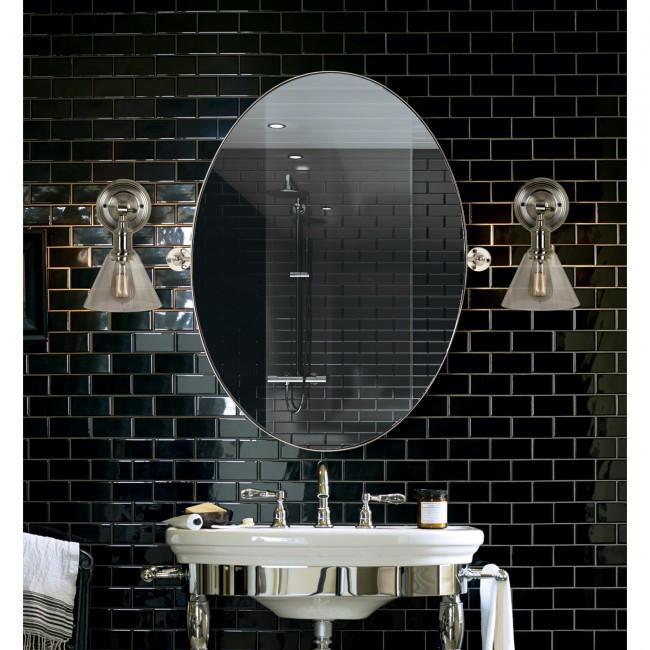 modern oval nickel metal swivel pivot bathroom vanity mirror azalea