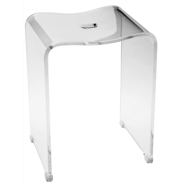 cp backless shower bench stool step seat lucite acrylic waterproof clear