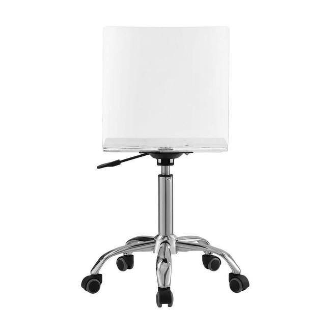 pbteen pbkids clear plastic Casandra acrylic lucite modern desk office chair
