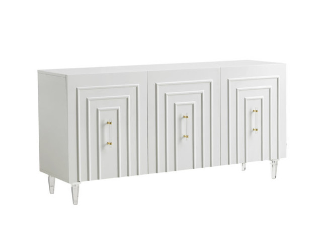 Tov Furniture Famke White Lacquer Buffet TOV-D5518 white sideboard mid century