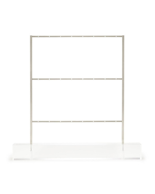modern metal and clear acrylic lucite kendra scott earring ladder jewelry stand