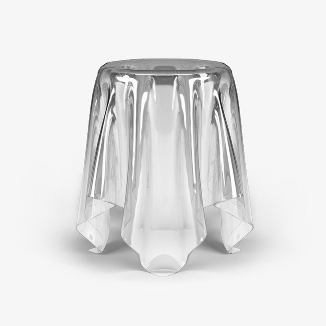 acrylic ghost table essey illusion side end accent skirt table