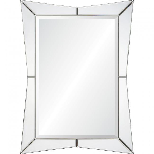 renwil Merritt unique shape Hollywood glam art deco beveled wall mirror