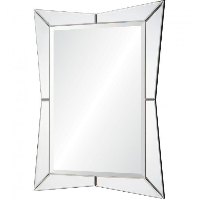 venetian glass mirror beveled unique shape wall mirror renwil merritt