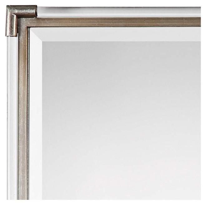 acrylic and silver tall rectangular lucite wall mirror modern wall décor uttermost mackai