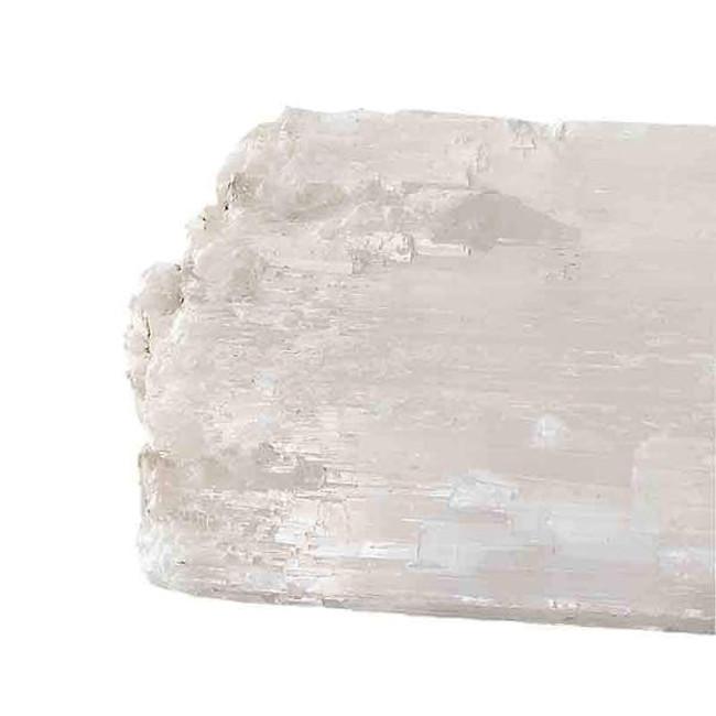 white glass crystal selenite quartz fireplace logs set of 3