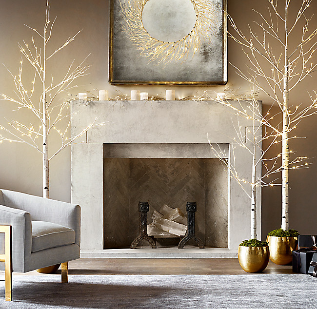 white quartz selenite crystal geode modern fireplace logs set of 3