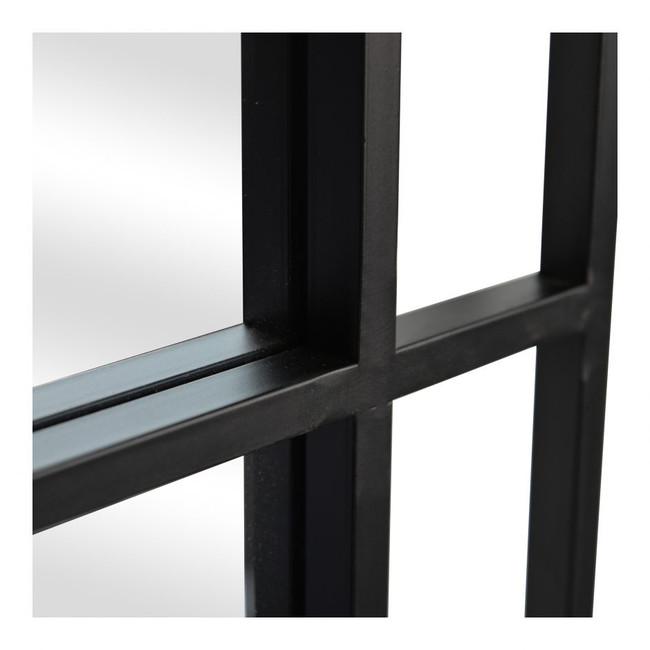 Moe's Home Collection Grid Black Rectangular Wall Mirror modern floor