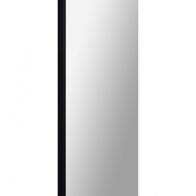renwil mandret arch top modern leaner mirror black metal wall floor standing