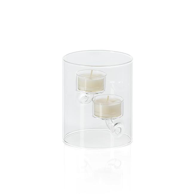 zodax Suspended Glass Tealight Holder / Hurricane - votive tall clear modern
