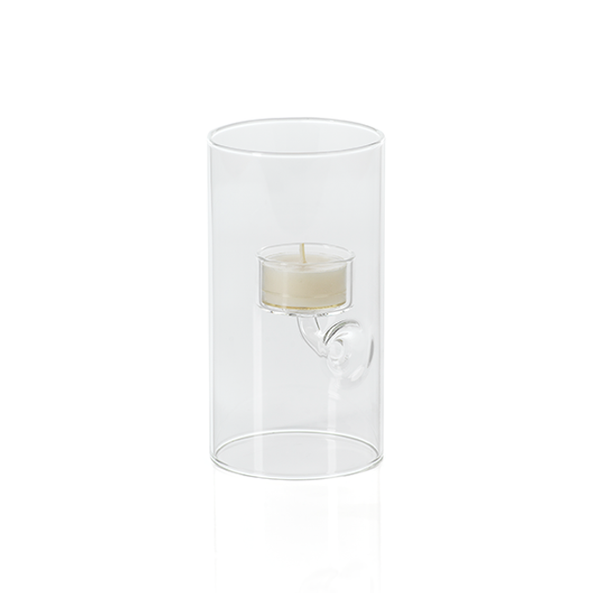 zodax Suspended Glass Tealight votive Holder / Hurricane - Extra Large tall clear modern