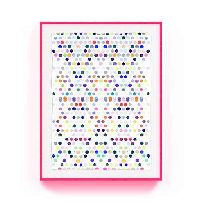 dots_5_#2_lucite kristi kohut modern fine art print lucite acrylic shadow box pink