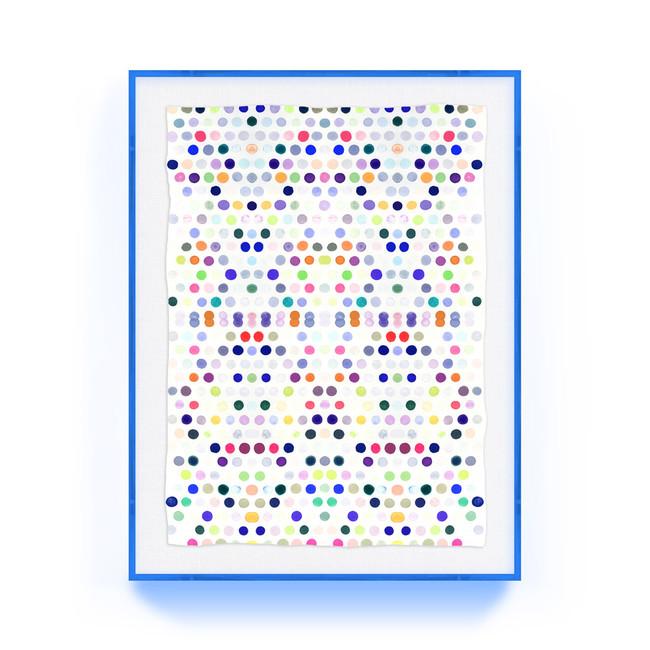 dots_5_#2_lucite kristi kohut modern fine art print lucite acrylic shadow box blue