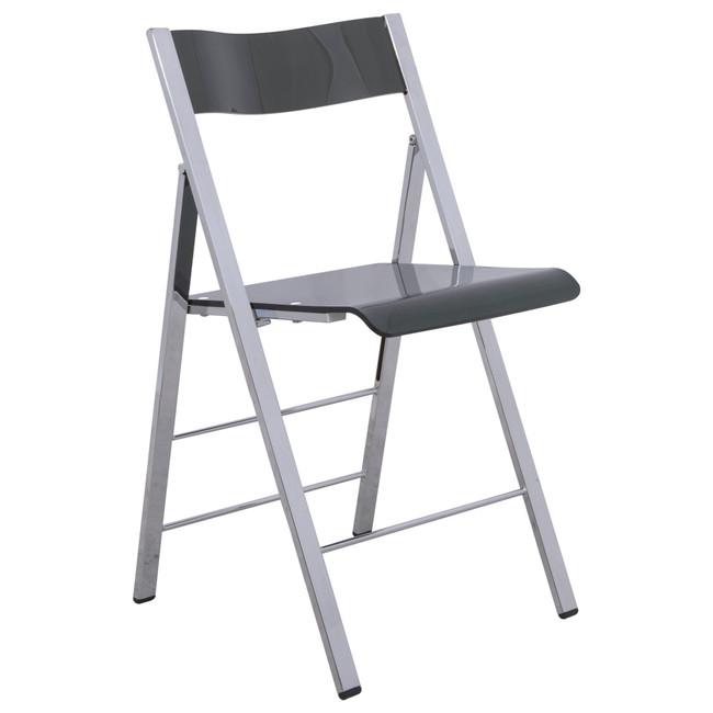 leisuremod menno modern acrylic lucite folding game chair metal frame gold black chrome