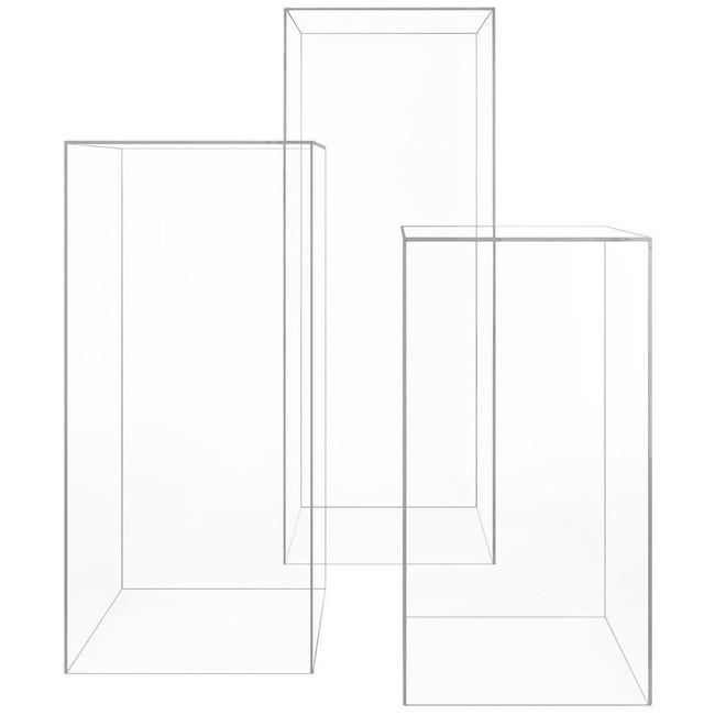 clear lucite acrylic tall custom modern plexiglass art sculpture pedestal stand 42