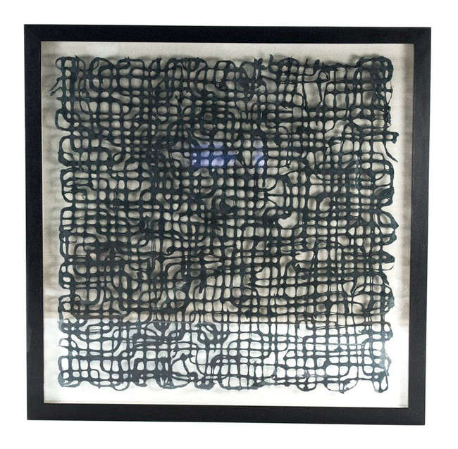 Black Abstract Paper Wall Art in Clear Shadowbox