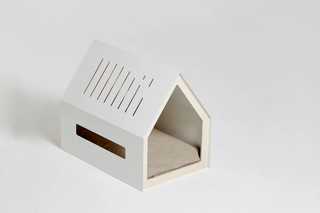 porvoo modern metal white indoor dog house pet bed cushion windows