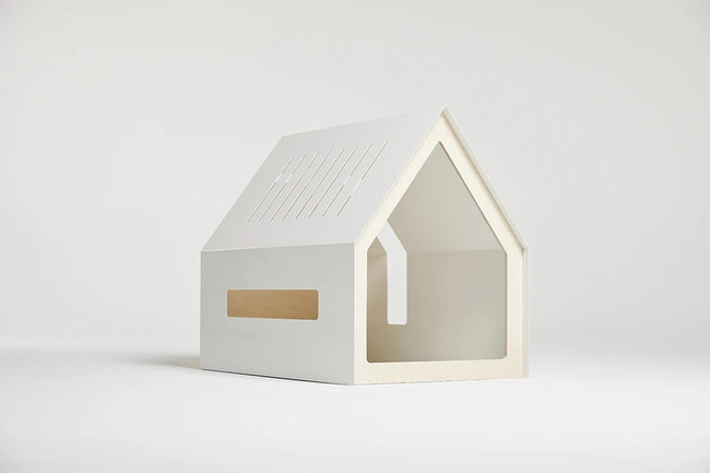 White Modern Dog House With Cushion Clear Home Design
