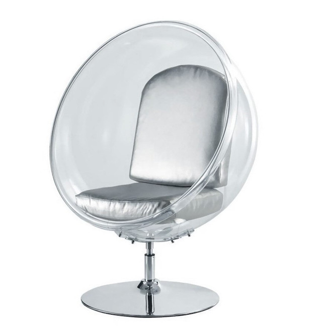 chair-ball-acrylic-silver-cushion-frontview_finemodimports_FMI9993_silver lucite ball egg