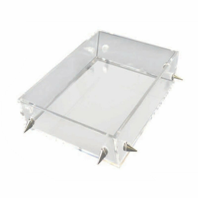 Clear Lucite Tray with Metal Studs,  Options