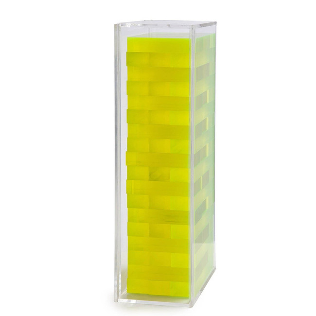 aurosi games Aurosi Neon Acrylic Yellow Tumble Tower
