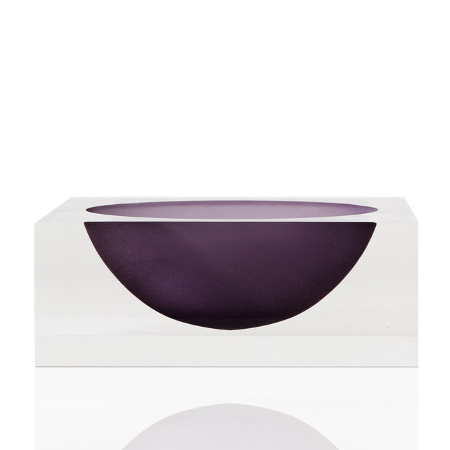 tizo modern acrylic thick acrylic lucite smoke purple bowl dish centerpiece