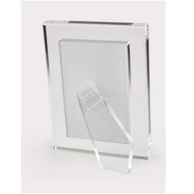 HA194CL tizo modern lucite acrylic clear border easel photo picture frame