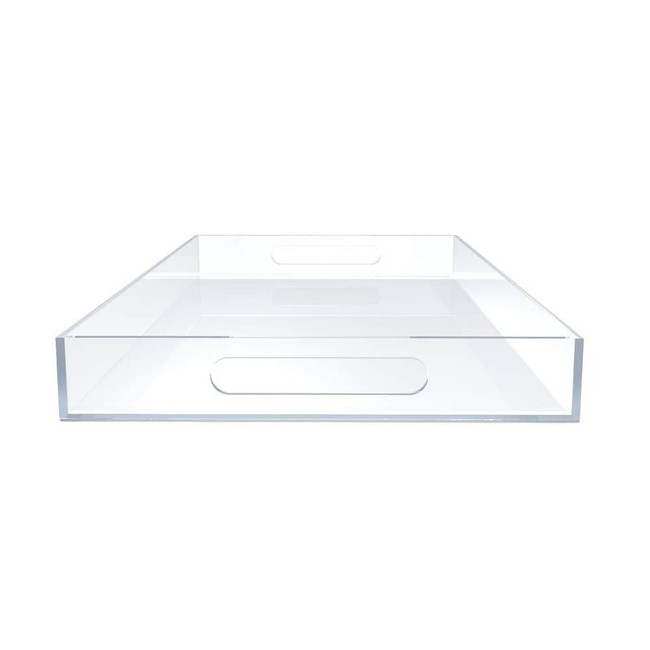 custom large Big Lucite Tray for Cocktail Ottomans