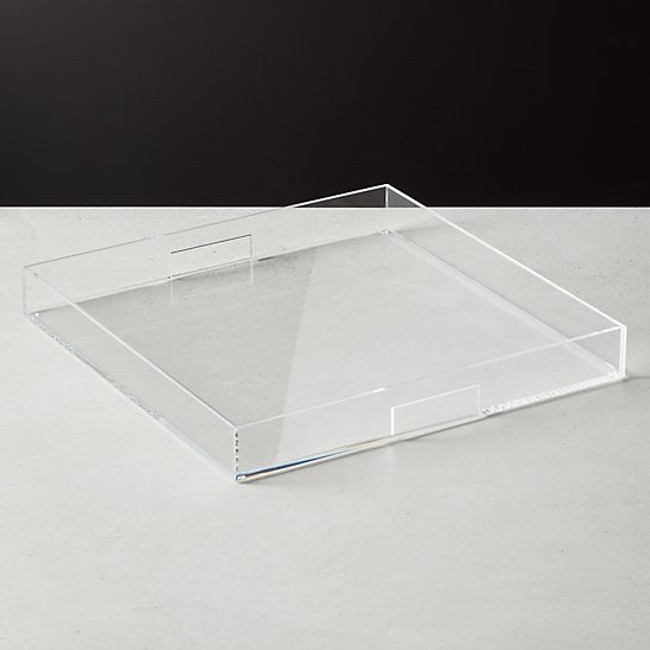Big Lucite Tray for Cocktail Ottomans