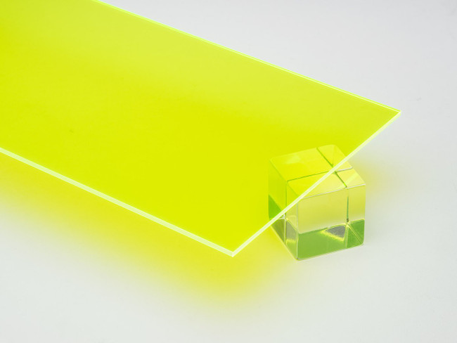 Color Edge Thick Clear Lucite Modern Bench, Color