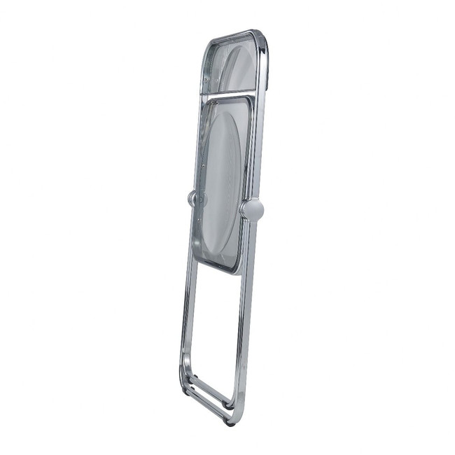 Color Acrylic Folding Chair with Chrome Trim leisuremod lawrence