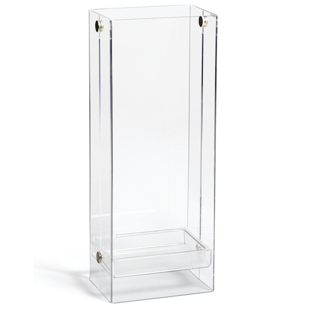 Clear Lucite Modern Umbrella Stand with Silver Grommets