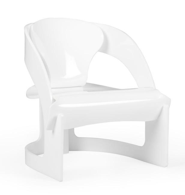 Modern Solid Lucite White Pretzel Chair