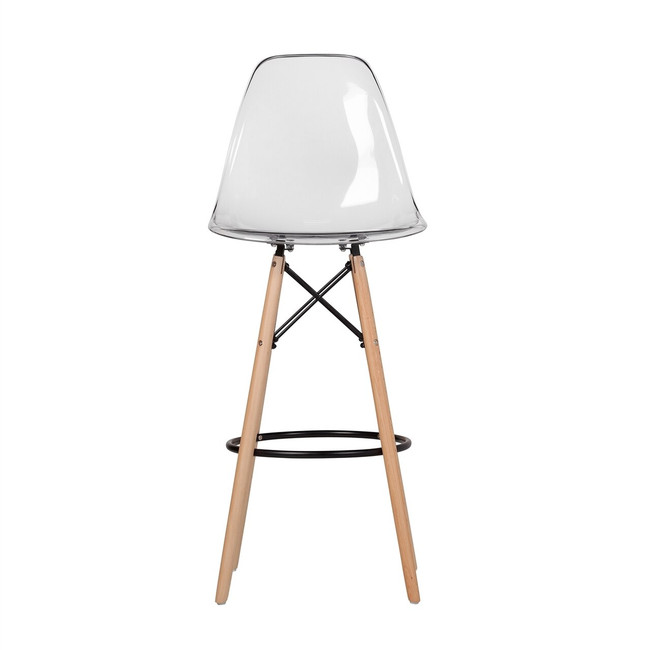 clear acrylic lucite the khazana eames bar stool replica wood Eiffel leg