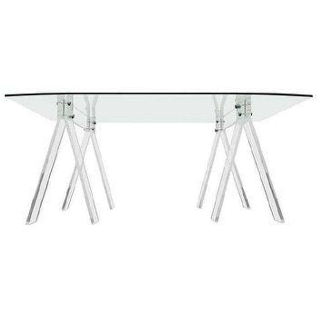 coaster furniture clear acrylic leg desk lucite writing