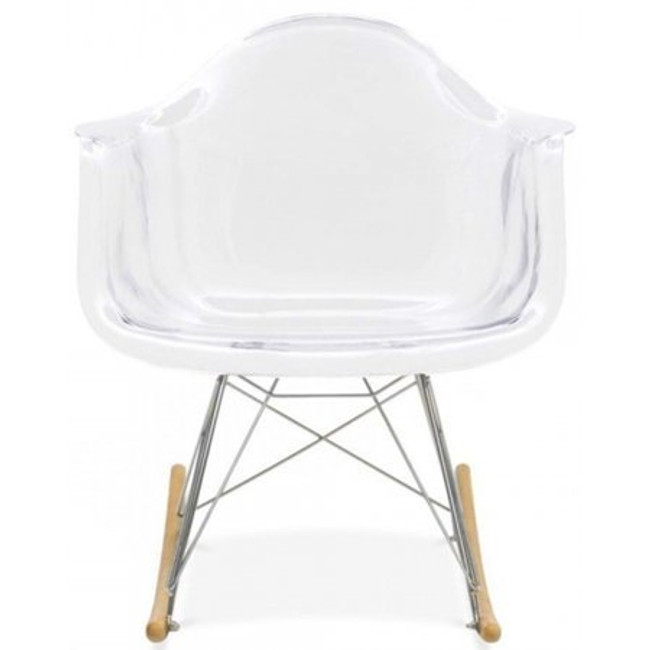 acrylic nursery rocking chair wood legs eames replica