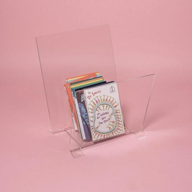 Clear Acrylic Book Bin