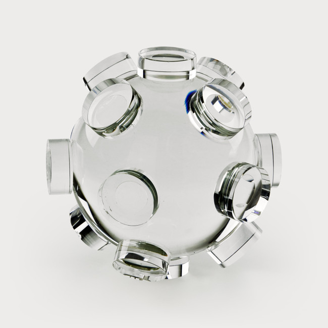 suction glass paperweight crystal desk tabletop accessory modern