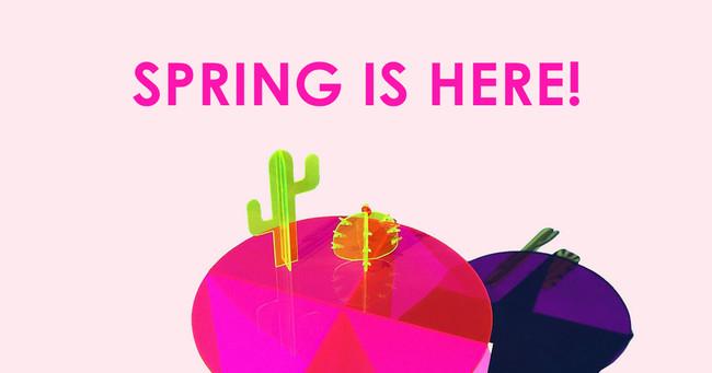 Go Bold! Bright Spring Color Acrylic & Lucite Home Ideas