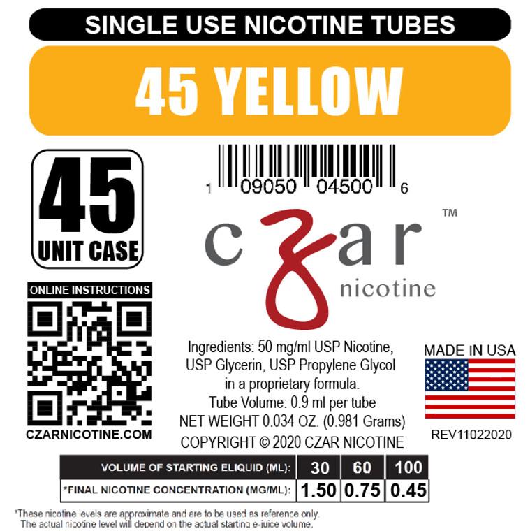 Yellow Czar Nicotine Tube Shot - 45mg/ml