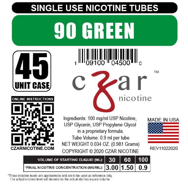 Green Czar Nicotine Tube Shot - 90mg/ml