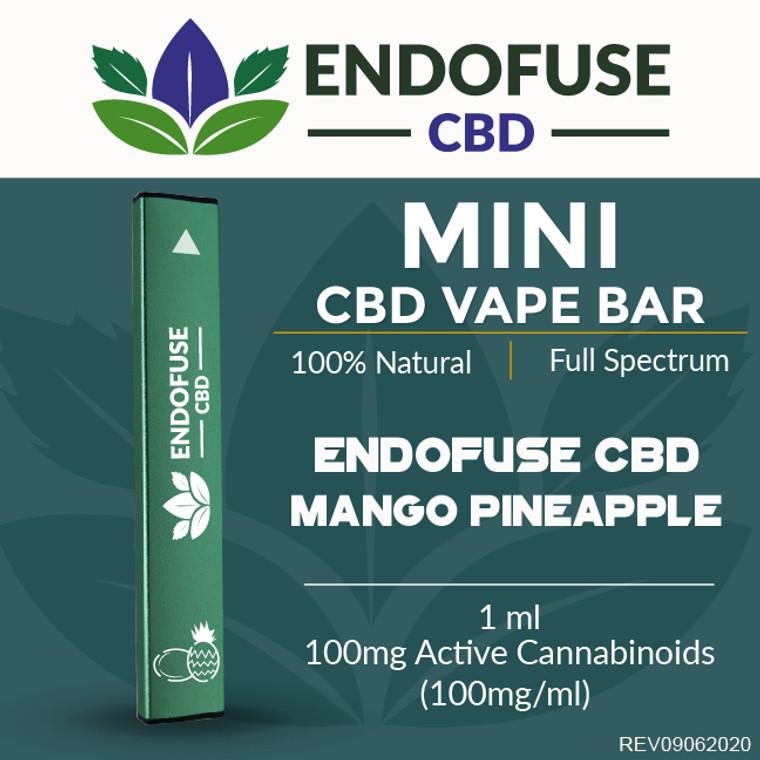 Endofuse CBD Vape Bar Mango Pineapple flavor.