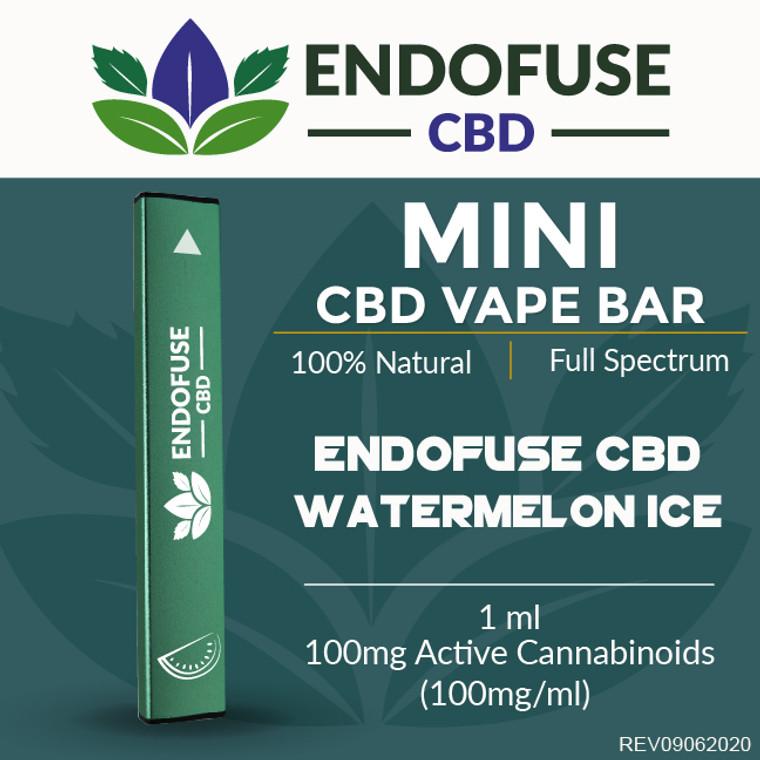 Endofuse CBD Vape Bar Watermelon Ice flavor.