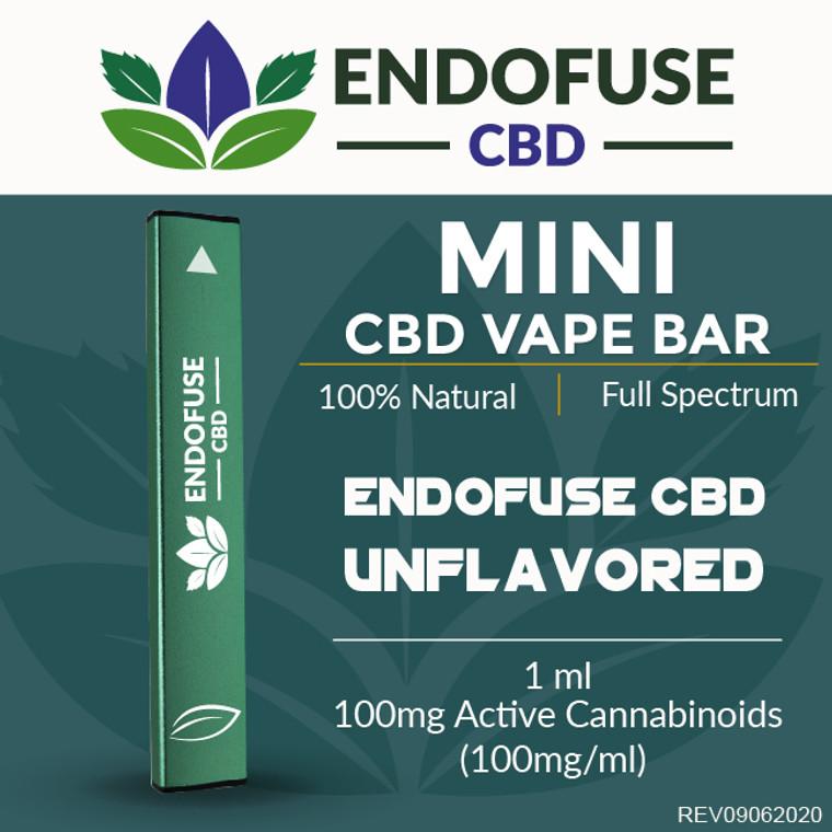 Endofuse CBD Vape Bar Unflavored flavor.